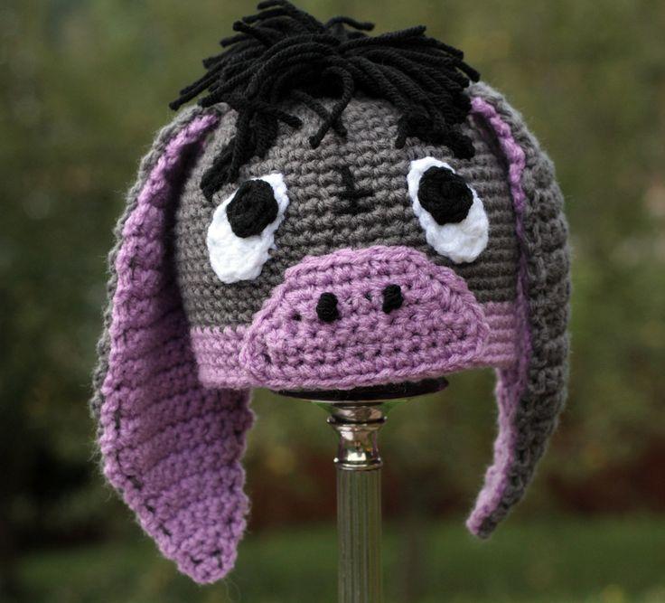 Eeyore crochet hat
