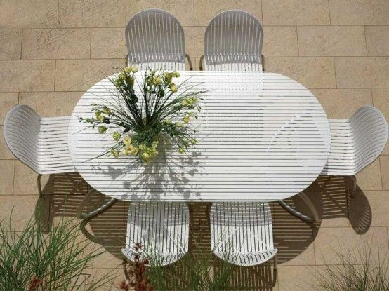 Modern White Outdoor Furniture best 25+ outdoor tables and chairs ideas on pinterest | outdoor