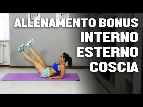 Esercizi per le gambe : interno esterno coscia - YouTube