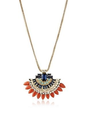 58% OFF Sparkling Sage Glass Stone Collage Pendant Necklace