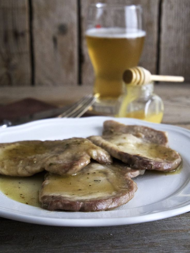 Lonza di maiale alla birra e miele - Pork loin with beer and honey