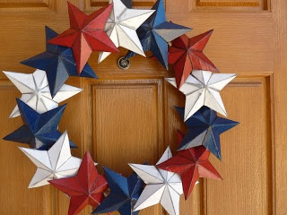 Star Wreath From Cereal Boxes