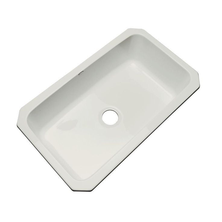Manhattan Undermount Acrylic 33 in. Single Bowl Kitchen Sink in Sterling Silver, Tender Grey