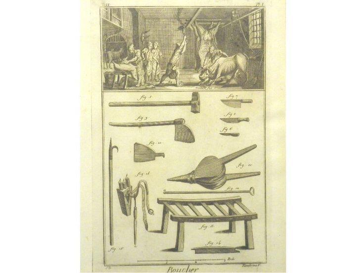 2 Original Kupferstiche aus Encyclopedie DER METZGER FLEISCHER