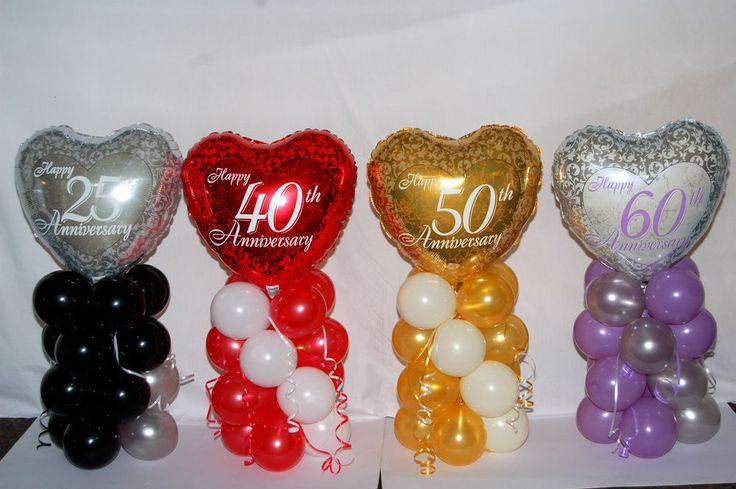 Details about 25th 40th 50th 60th anniversary foil balloon for 25th birthday decoration