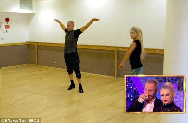 Sad times: And as he watched back his highlights on the show, Judge Rinder and Oksana wept...