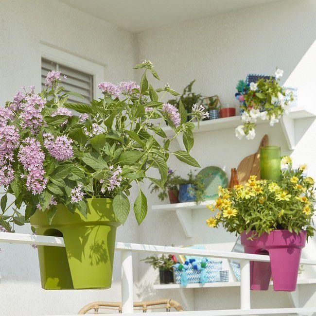 Doniczka Balkonowa Verve 28 Cm Rozowa Donice Zewnetrzne Plants Potted Plants Balcony Decor