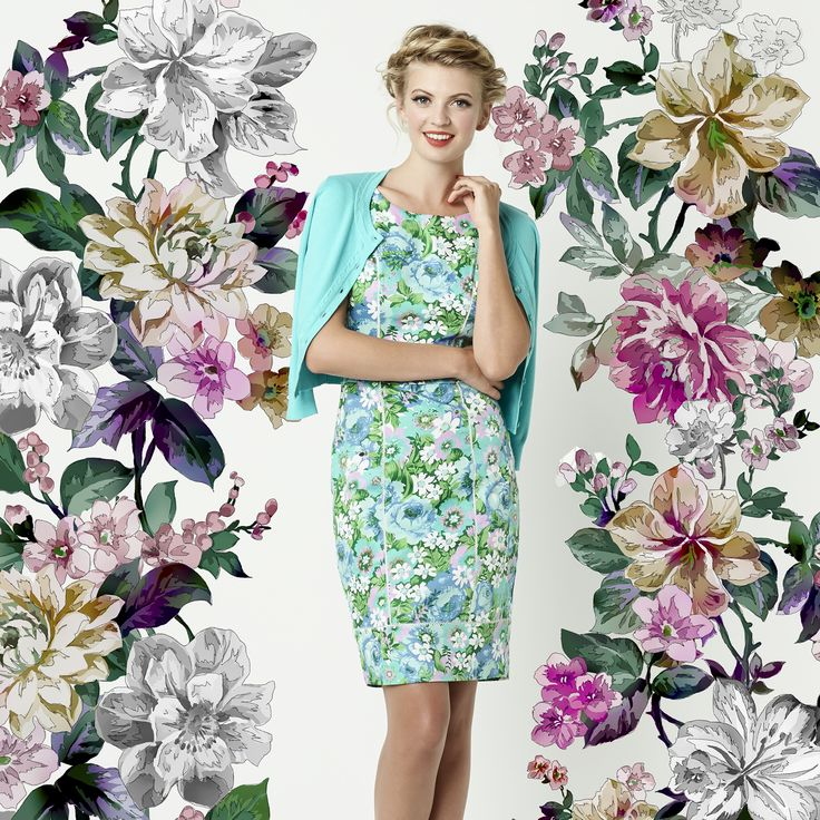The Pastel Flower Dress & Chessie Cardi