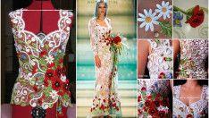 Květinový vzor Letní oblečení Making