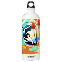 cool surfing dude on waves SIGG traveler 1.0L water bottle