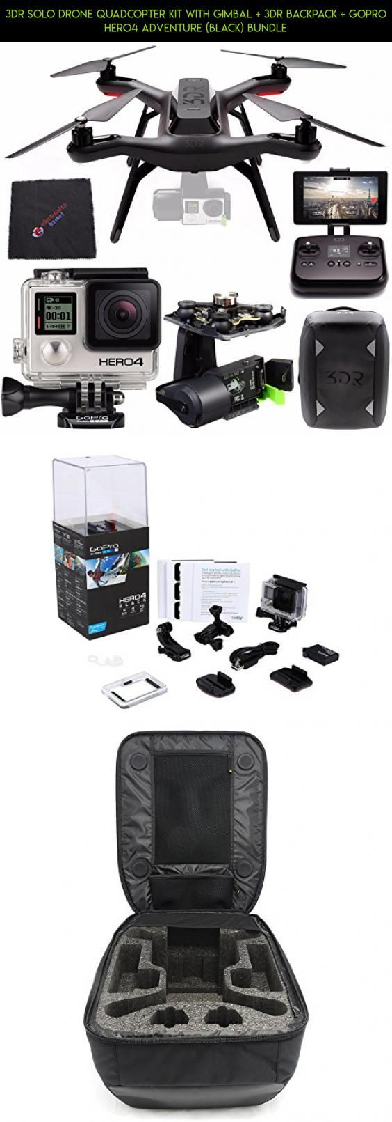 3DR Solo Drone Quadcopter Kit with Gimbal + 3DR Backpack + GoPro HERO4 Adventure (Black) Bundle #tech #racing #solo #fpv #parts #drone #backpack #plans #camera #shopping #gadgets #products #technology #for #kit #3dr