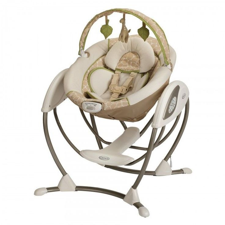 Portable Baby Swing Glider Soothing Motion Comfortable Vibration Infant Seat New
