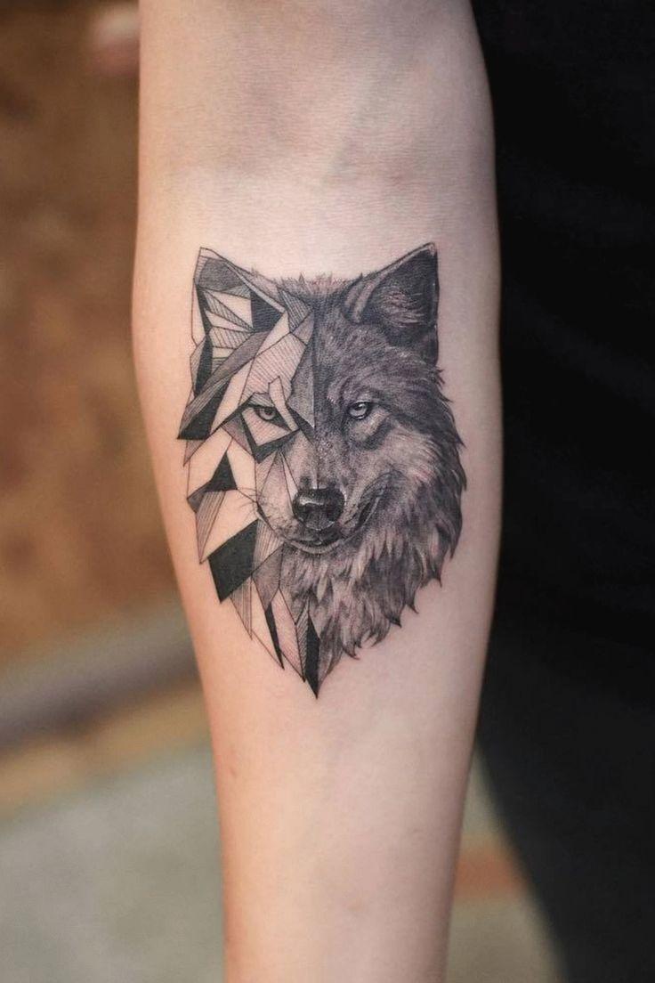 Ro By Ro Robert Pavez Real Geometric Wolf Done In Studio Zoi Tattoo Stockholm 2018 Engrav Wolf Tattoos Men Wolf Tattoos Wolf Tattoo Sleeve