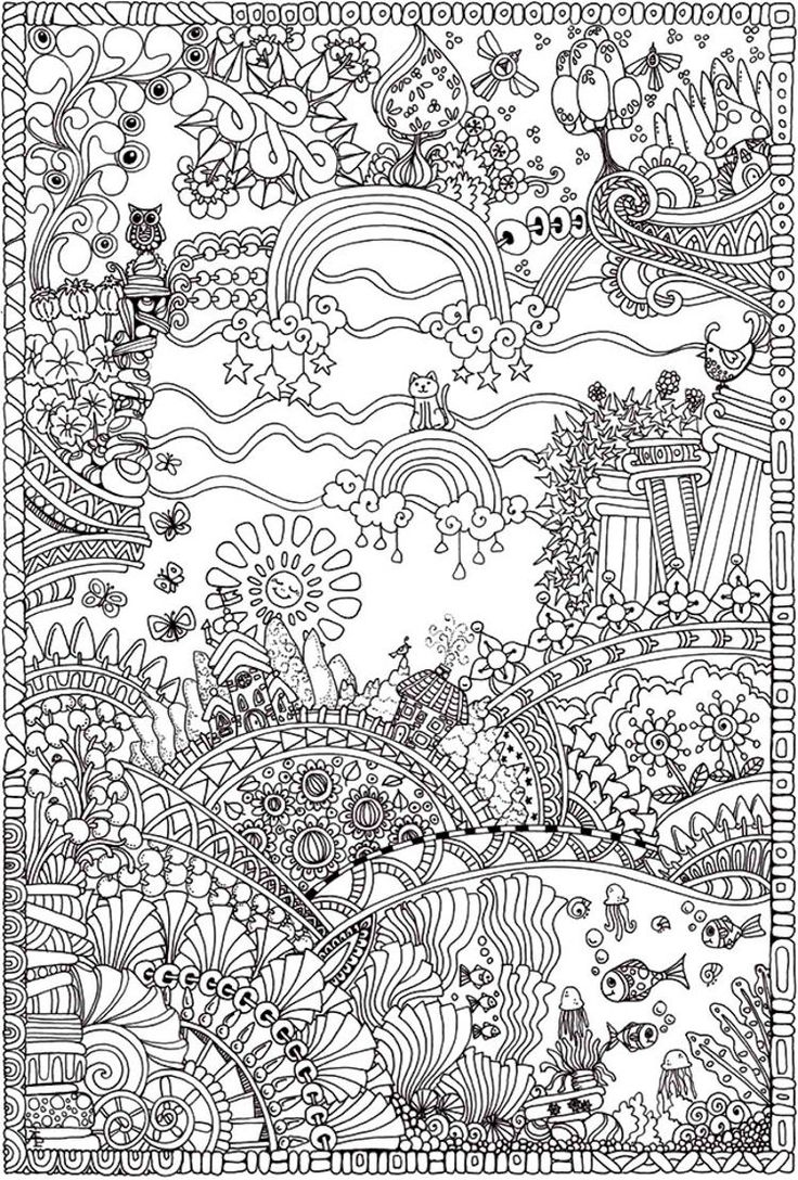 Insanely Intricate Entangled Landscapes Coloring Page3