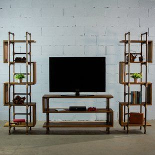 Find Elbert Entertainment Center for TVs up to 58″ (Set of 3) By 17 Stories 2019