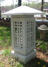 Granite stone lanterns for Japanese gardens,  gifts, garden lights, garden ornaments