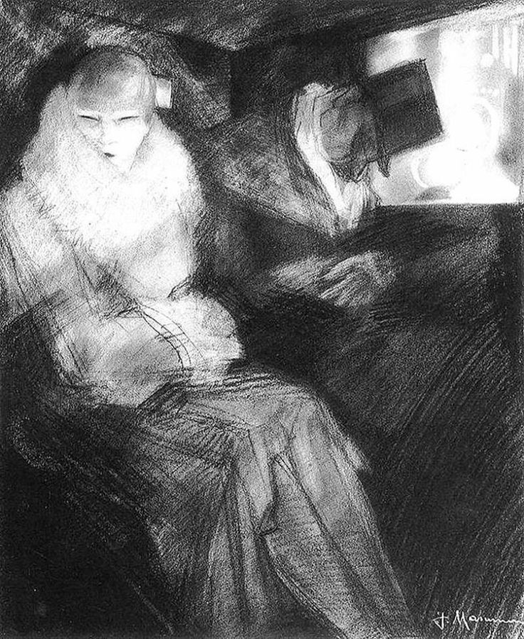 Jeanne Mammen (German, 1890-1976) The Journey Home (c. 1928) Black chalk on paper, 38.3 x 31.2 cm. The Marvin & Janet Fishman Collection, Milwaukee WI