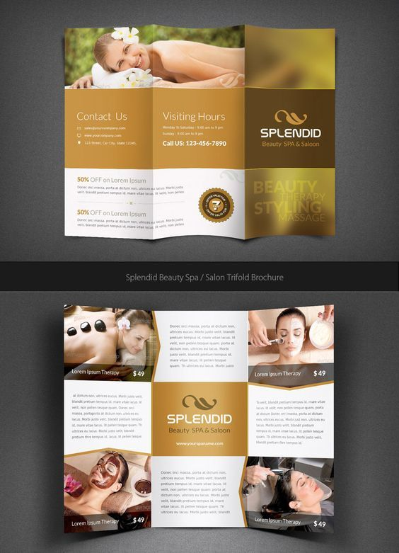 31 best Spa Brochure Design images – Spa Brochure Template
