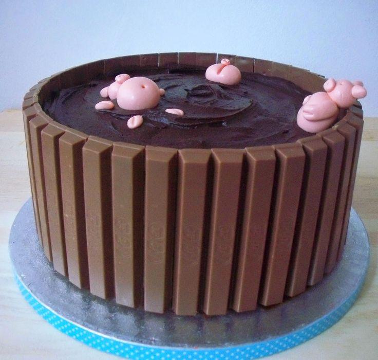 Aurea´s Kitchen: Dulce: Una tarta de cerditos