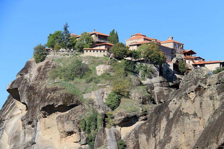 Grecja, Meteory - widok na Klasztor Warłama