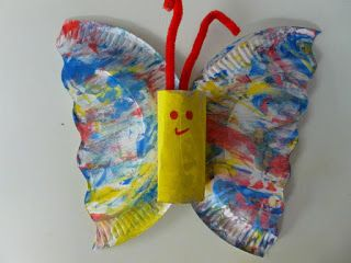 Tekenlesjes: Een vlinder knutselen met peuters.