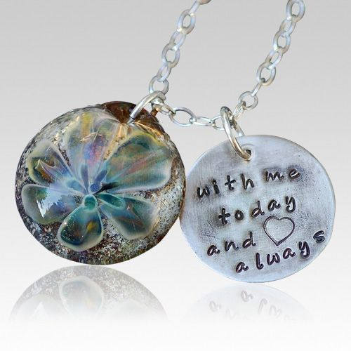 jewelry made from ashes | Sterling Lily Cremation Ash Pendant