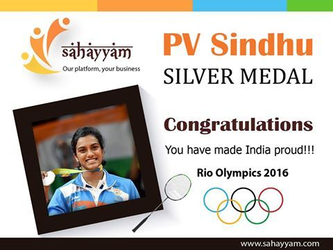 Congratulations PV Sindhu for winning a silver medal in Rio Olympics Badminton. It was a moment of pride for every Indian.