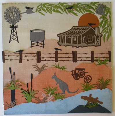 Before Christmas I was playing with some more of the new Australiana dies from Ultimate Crafts.  This is a 12 x 12 page. I had a ...