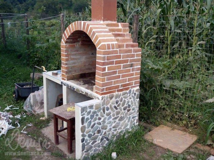 constructia unui gratar de gradina How to build an outdoor brick oven 5