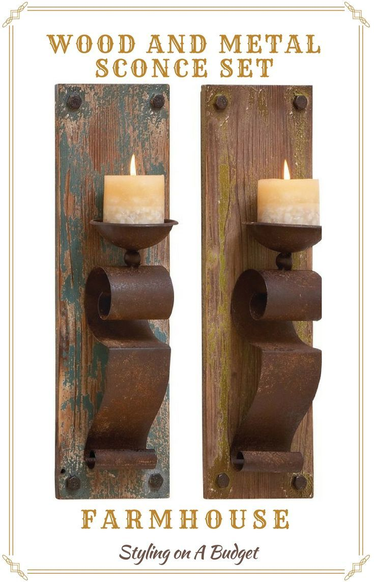 Nice Rustic candle Holder. #rusticdecor #farmhouse #candleholder#farmhousedecor#homedecor#ad