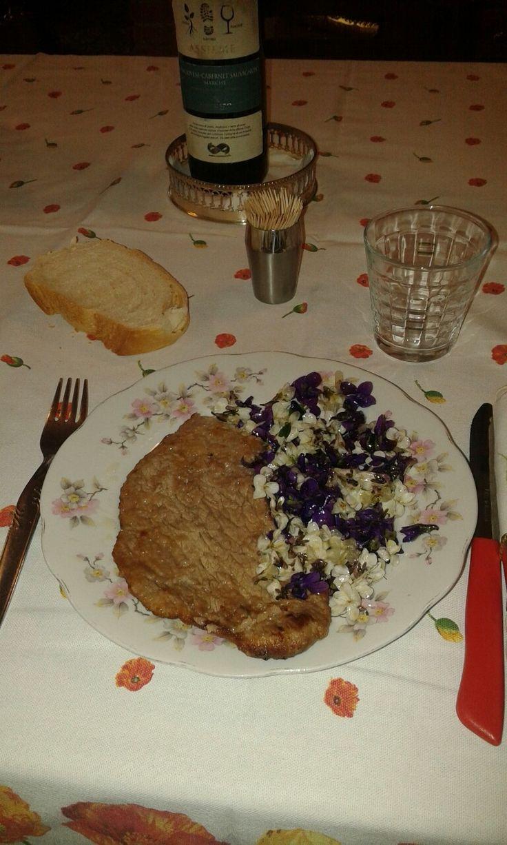 11.3.2016 bistecca e insalata di viole