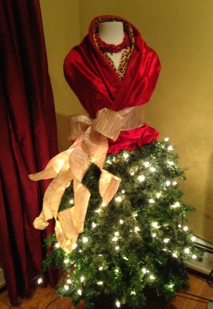 "Dress Form Mannequin Christmas ""Tree"""