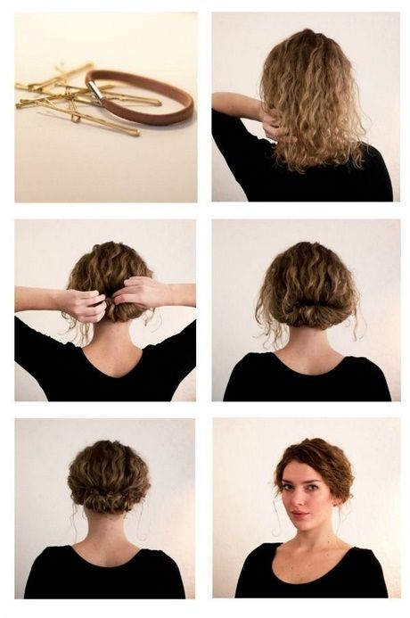 Sweet everyday hairstyles for curly hair