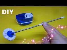 DIY How to make a miniature Mop and Bucket / Dollhouse - YouTube