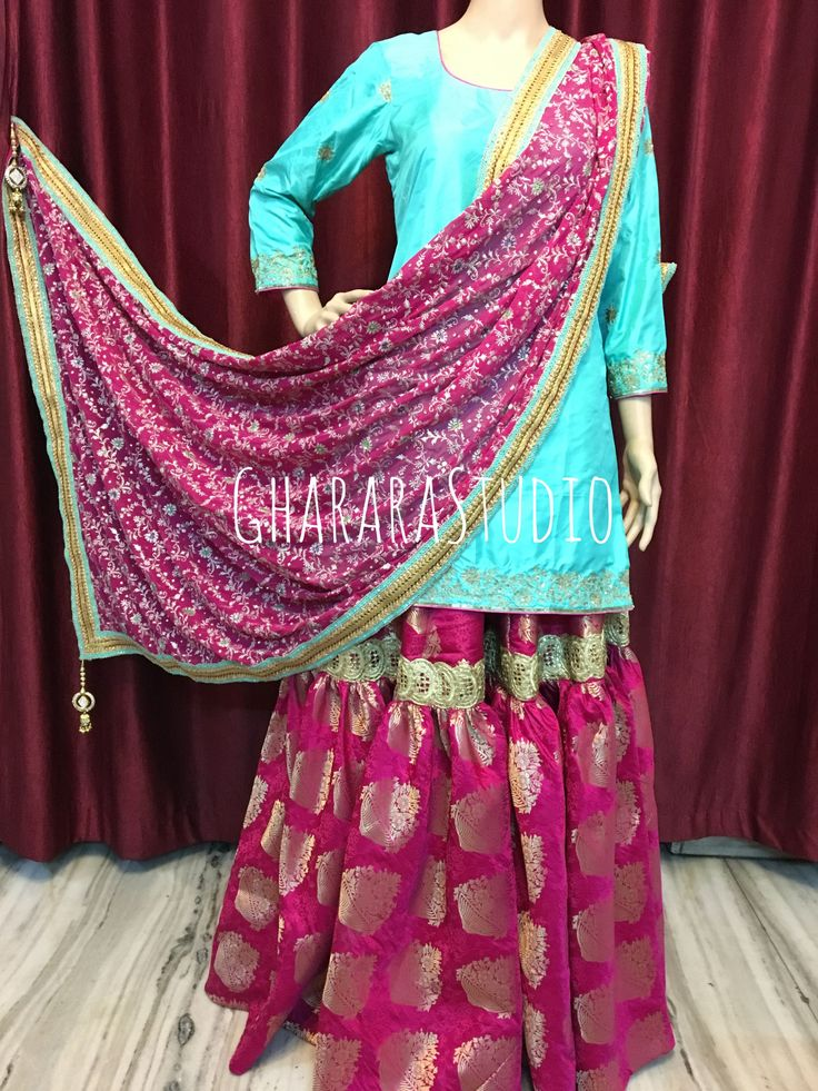 Gharara in Pink with beautiful handwork on kurti.   #Gharara #ghararastudio #ghararastudiobyshazia #ghararadesign #ghararah #ghararafashion #ghararalove #ghararadesign #bridal #bride #wedding #weddingdress #weddings #nikah #fashion #fashionblogger #fashionstylist #fashiongram #fashionblog #blog #indianfashionblogger #indianfashion #indianstylist #indiandress #indiantradition #instafashion
