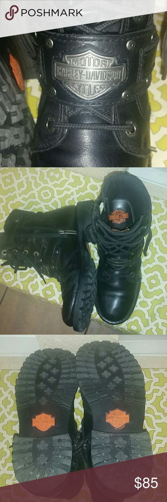 Harley Davidson womens riding boots Harley Davidson women's boots hardly worn. Excellent condition. Harley-Davidson Shoes Combat & Moto Boots