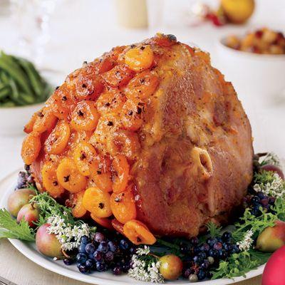 Glazed Ham with Apricots