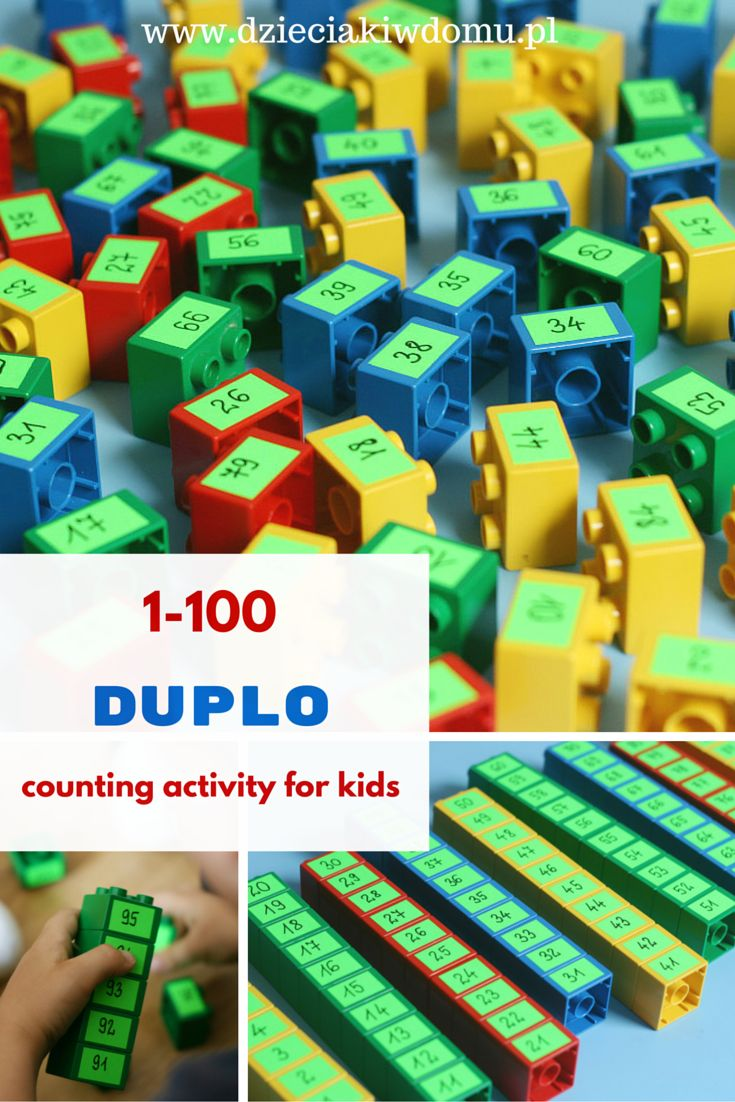 1-100 duplo counting activity for kids