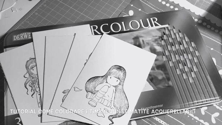 Video tutorial colorazione timbri con matite acquerellabili