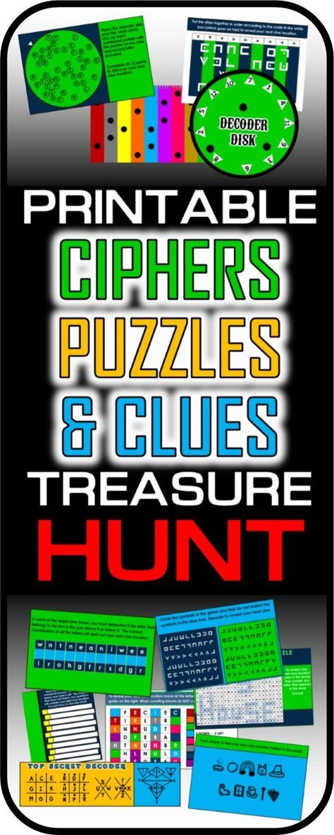 53 best acertijos images on pinterest caza juego y cumpleaos this printable treasure hunt is all about ciphers puzzles and codes the best malvernweather Gallery