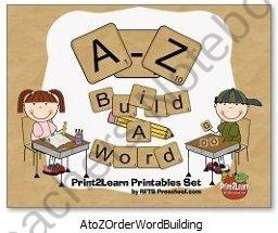 A to Z Order Word Building product from RFTS-Preschool on TeachersNotebook.com