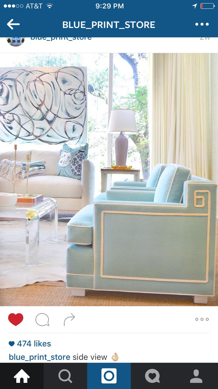 78 best furniture images on pinterest brass hardware print light blue custom lounge chair acrylic coffee table blue home accessories malvernweather Images