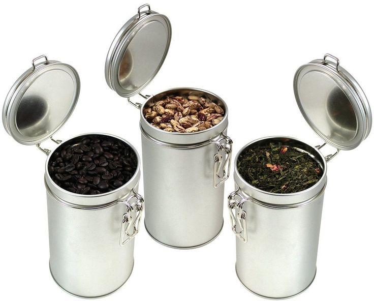 Puretea Latching Tea Tin Coffee Canister Loose Leaf