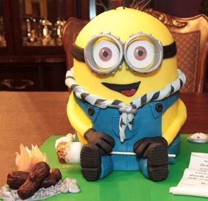 Minion Boy Scout Cake Cup Cakes Pinterest Scouts