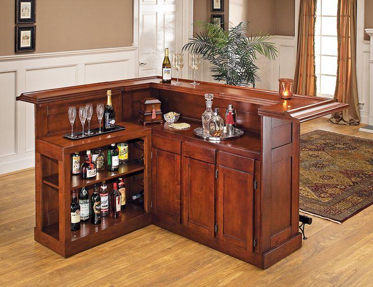 si desea ubicar el bar en su sala conviene que la altura