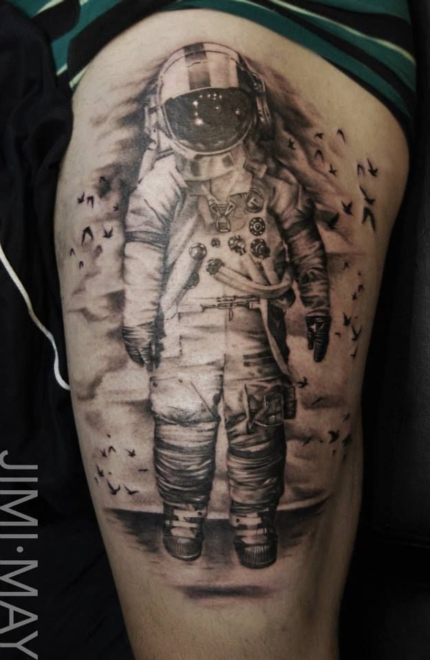 brand new astronaut tattoo-#6