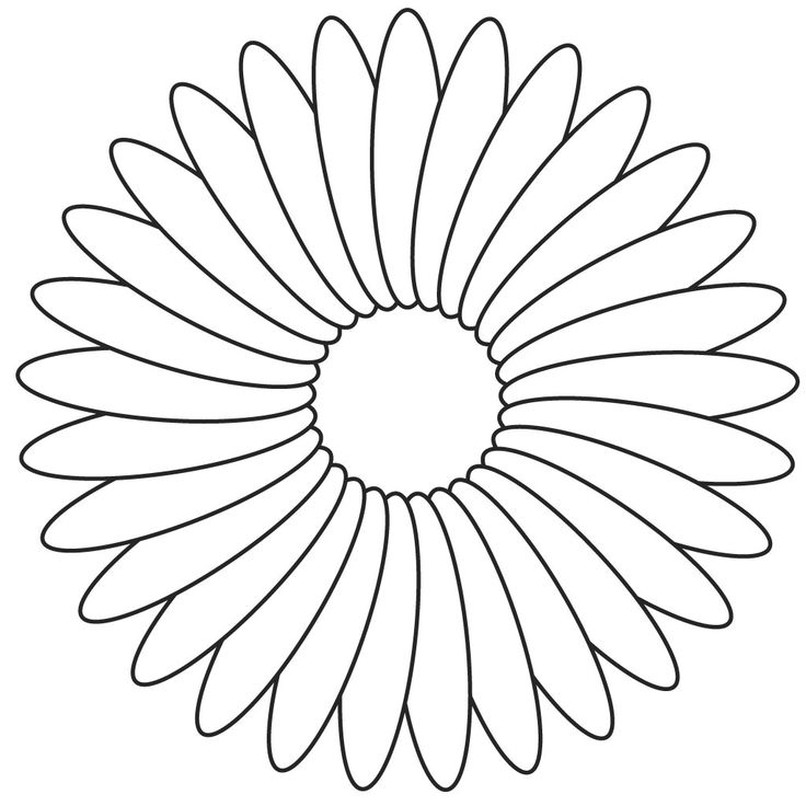 Daisy Flower Daisy Flower Outline Coloring Page Stencils Coloring
