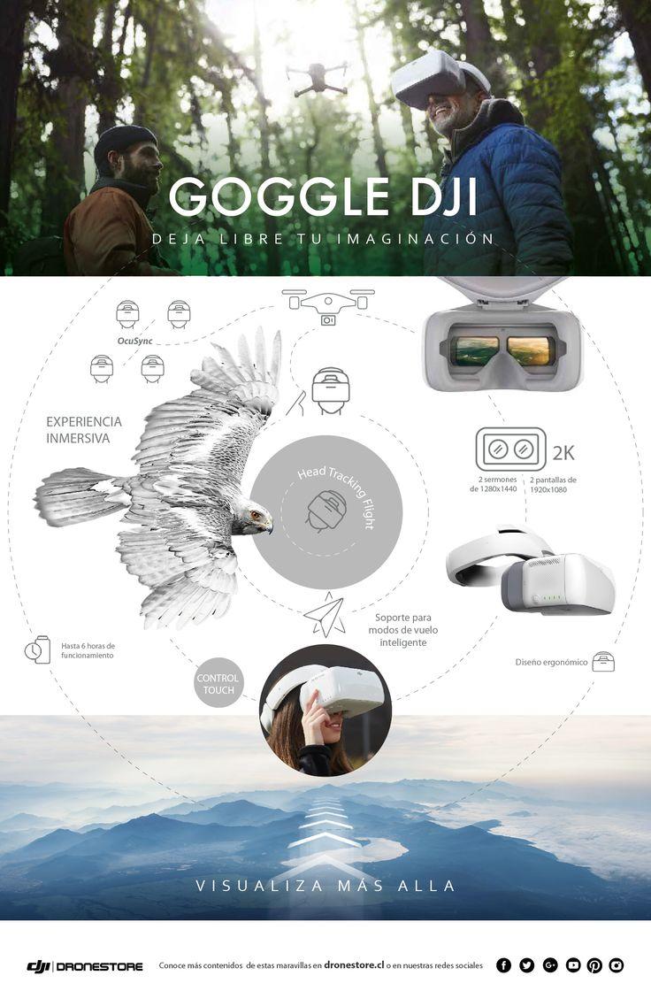#Infografía #DJI #Goggles#Observa el mundo desde otra perspectiva!🌎Eleva tu dron y deja libre tu imaginación, ¡Siente como si realmente volaras por los aires!🕊️😮 Consigue tus DJI #Goggles aquí👉https://goo.gl/PmGDCs