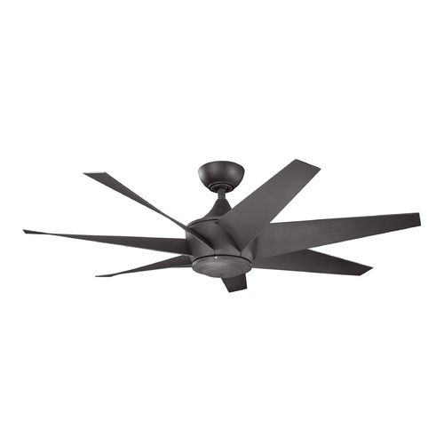 The 25 best ceiling fans without lights ideas on pinterest kichler lighting lehr ii distressed black ceiling fan without light mozeypictures Choice Image