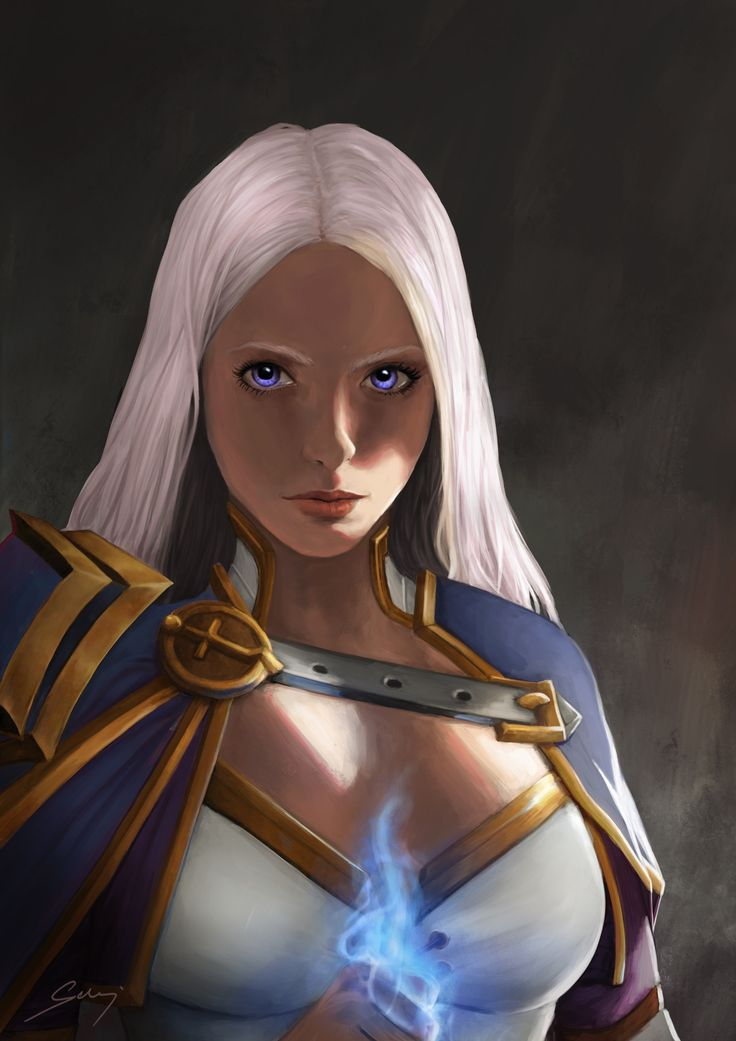 Pvaia's Art ♥ #jaina #proudmoore #wow #fanart #art #ice #mage #warcraft #hearthstone #painting #digital #photoshop #blonde #magic #portrait #girl